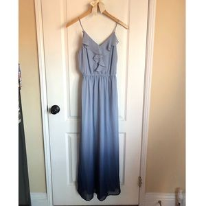 LC Lauren Conrad blue ombré Maxi dress